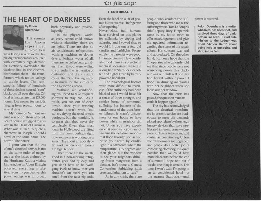 heart of darkness articles - essays Suggested essay topics and study questions for joseph conrad's heart of darkness perfect for students who have to write heart of darkness essays.